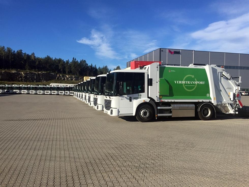 Joab har levererat närmare 50 sopbilsaggregat till Veireno i Oslo. Bilarna kommer samla in hushållsavfall i hela Oslo som entreprenören Veireno fått kontrakt på.
