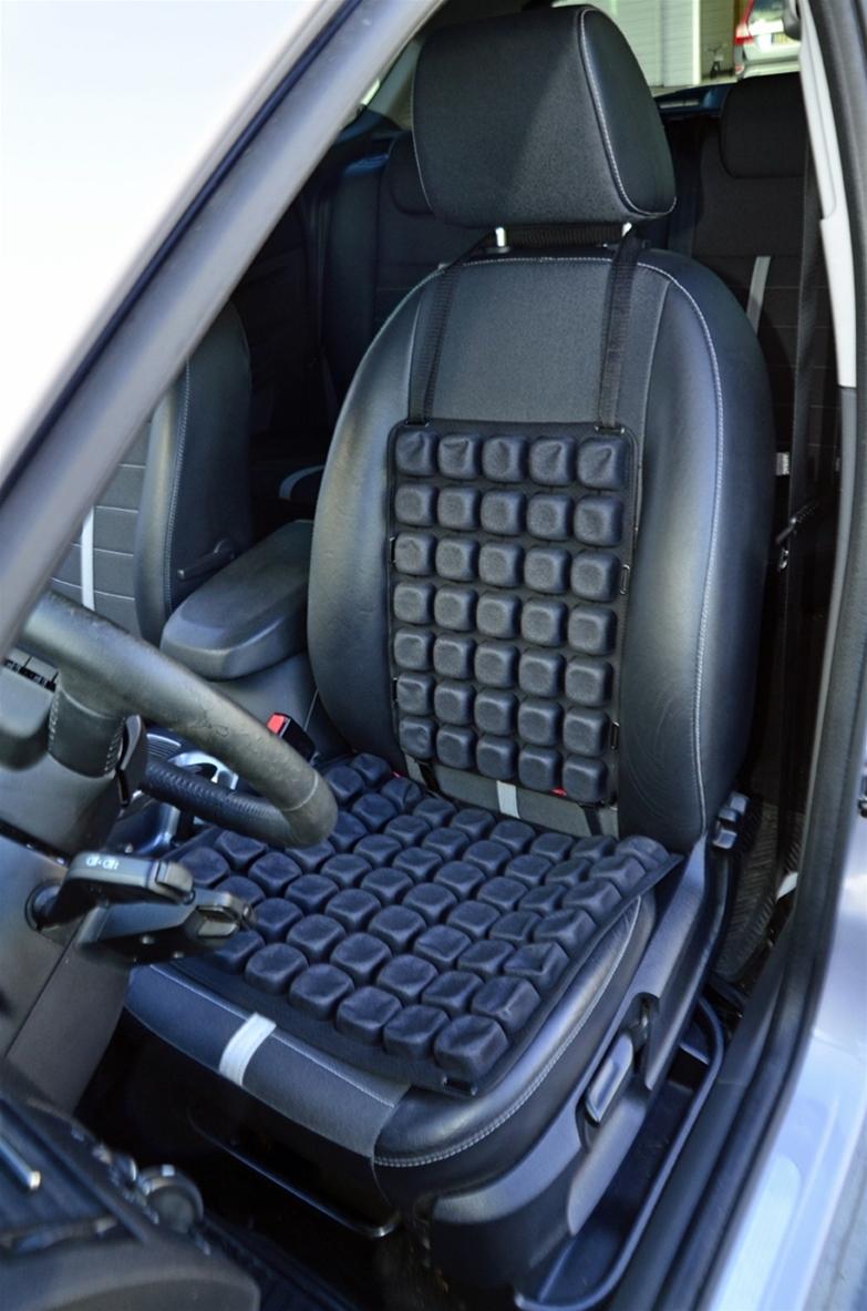 Nu har Automed Scandinavia samlat tolv års erfarenhet och mer än 5 000 tester gjorda hos yrkesförare och presenterar sitt- och Ryggdynan Aircell. Dynorna arbetar med luft som förbättrar sittkomforten och reducerar vibrationerna i alla typer av fordon och stolar.