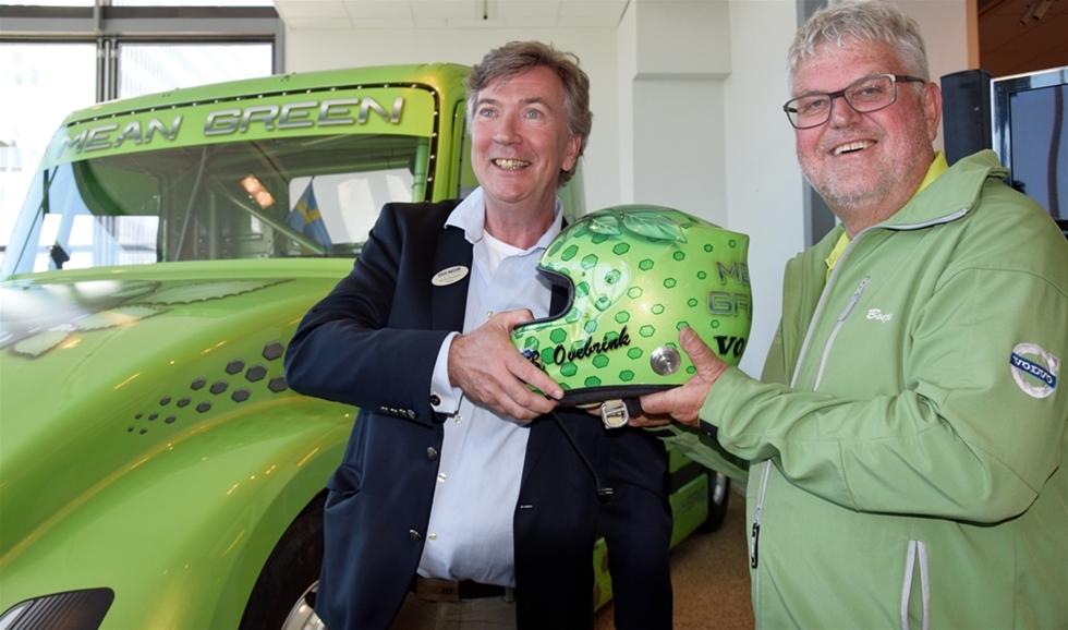"""Mean Green slog det ena världsrekordet efter det andra. Nu har hybriden hamnat på """"hemmet"""" – på Volvo Museum i Torslanda. – Det är som att skiljas från en kär vän som man upplevt mycket glädje och sorg med, sa han."""