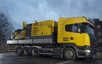 Flexibel Scania för brunnsborrare