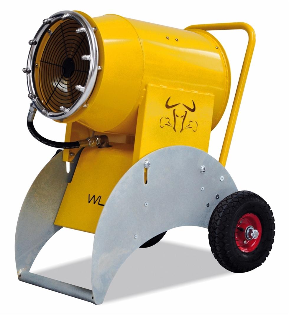 Lanseringen av en smidig 230 volts maskin för dammdämpning både inne och ute är i full gång.