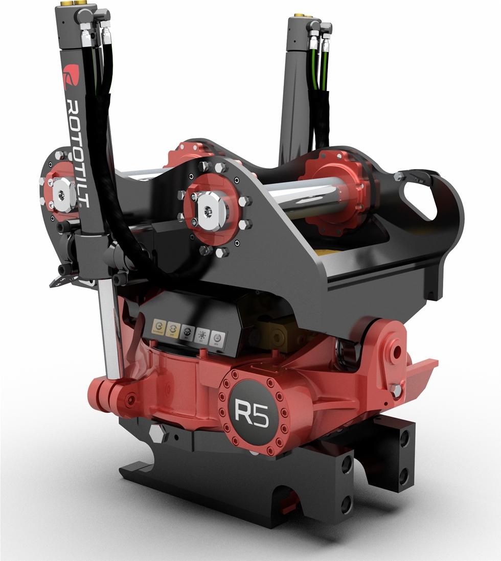 Rototilt Group har under många år varit komplett leverantör av tiltrotatorer till grävmaskiner och grävlastare. Nu lanseras Rototilt R5, en ny modell som riktar sig till maskiner i segmentet upp till 19 ton.