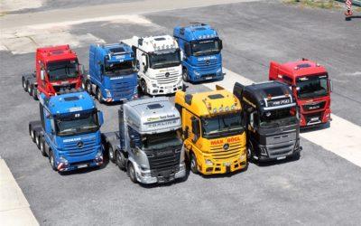 Nio kraftfulla dragbilar i tungt jämförelsetest