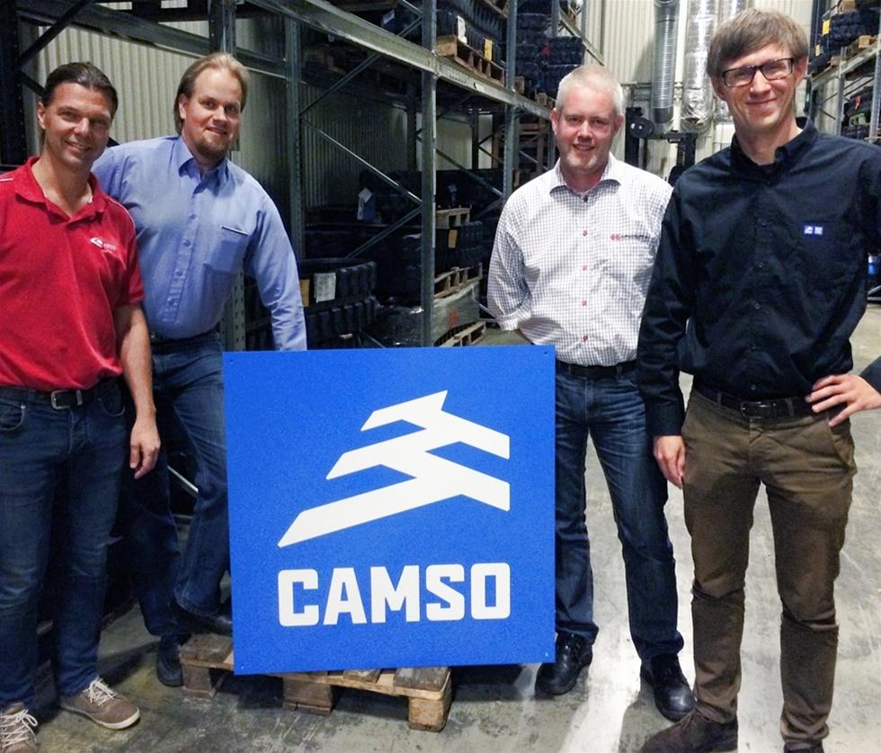Det Kanadensiska företaget Camso, f.d. Camoplast och Häggblom Sverige AB inleder ett samarbete. Det innebär att Häggblom kommer sälja Camso gummilarvband och däck för entreprenadmaskiner i Sverige.