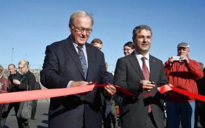 Energiminister Baylan invigde biogasanläggning