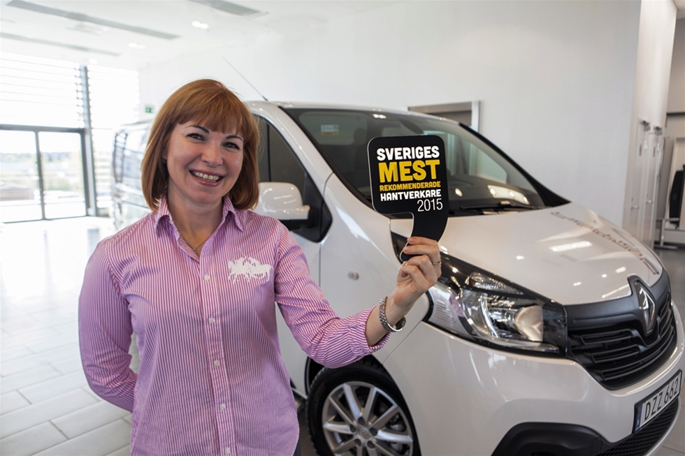 Det blev Erikas Tak & Bygg AB som tog hem titeln som Sveriges mest rekommenderade hantverkare 2015 i tävlingen som arrangerades av Renault tillsammans med rekommendationsföretaget Reco.