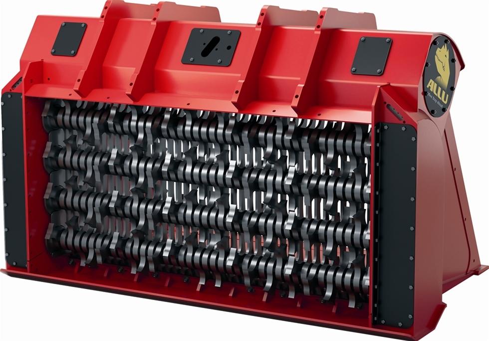 Den nya Allu TS Skopan är unik då den möjliggör två olika fraktionsstorlekar från en och samma enhet. Allt bara genom att positionera om toppgaller stagen i skopan.