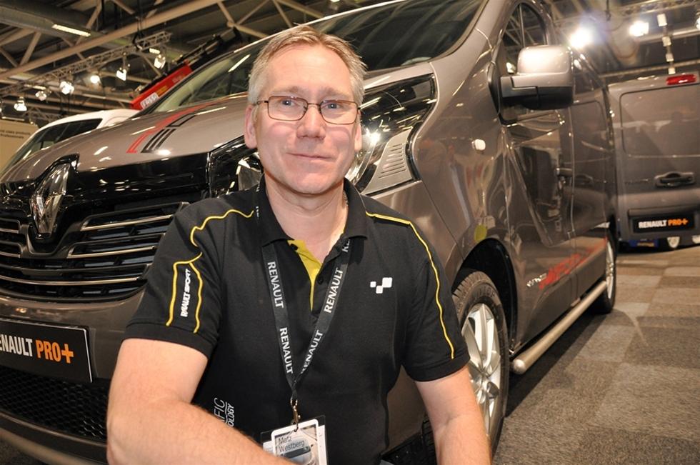 I Renaults monter var det positiva tongångar. Försäljningen på transportbilssidan går som tåget och bara någon dag innan mässan öppnades kunde företaget redovisa 2014 års resultat – vilket visade sig vara det bästa sedan åtminstone 2008 – när Renault Nordic bildades. -Ja, det är de  nya modellerna av Renault Trafic och Master som visat sig vara mycket lyckade, säger Matz Westberg, ombyggnadsansvarig på Renault Nordic AB.