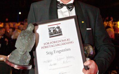 Stig Engström tilldelades hederspris