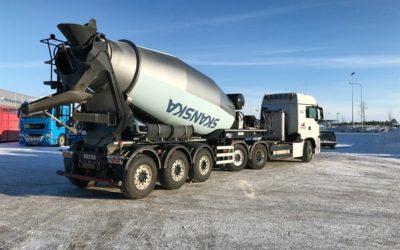 Unik trailer ger betong i stora lass