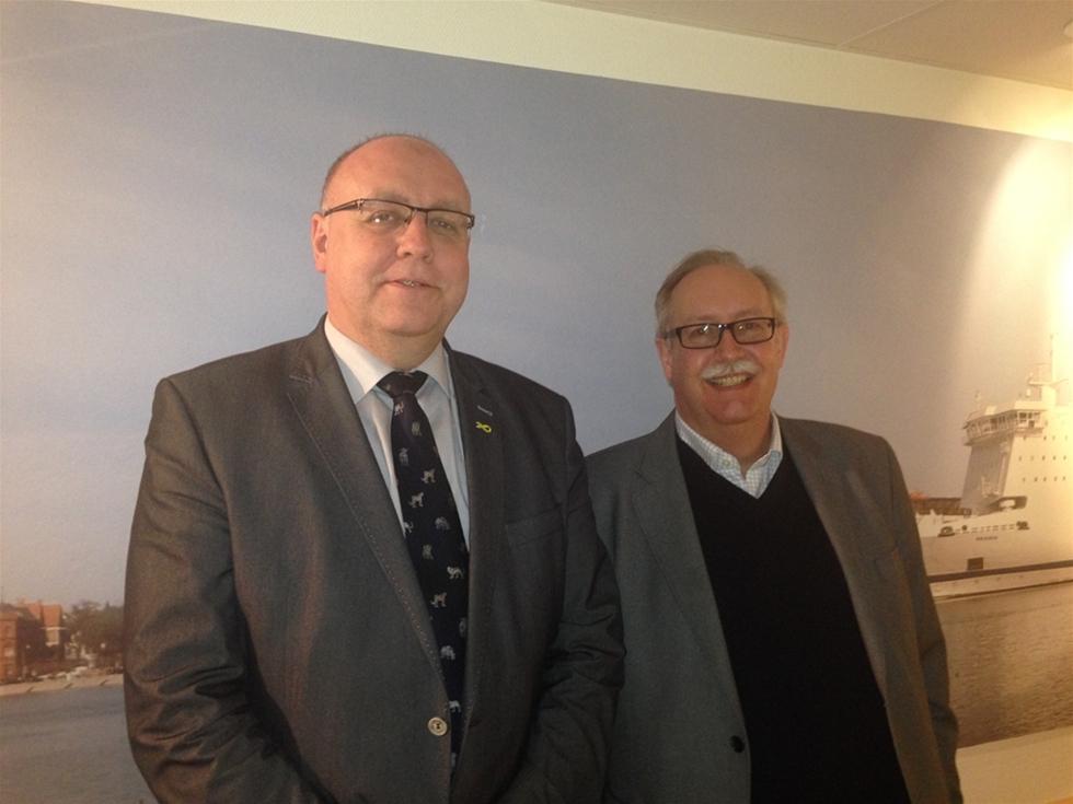 Nyligen besökte den danske politikern Kristian Pihl Lorentzen Ystad Hamn. Kristian Pihl Lorentzen är ledande politiker med fokus på transportfrågor i Danmarks största parti, Venstre.