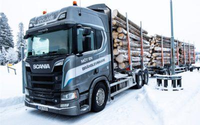 Iskall uppvisning av Scania