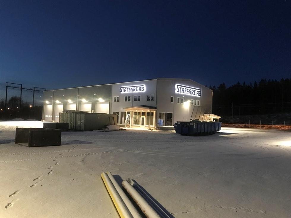 Den 8-9 december var det invigning av Staffare AB:s nya anläggning i på Hantverkarvägen i Luleå.