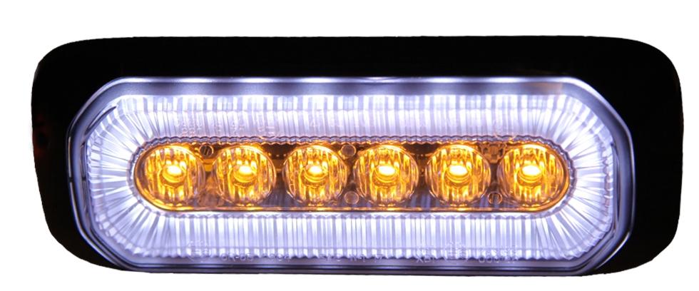 HB6, Halo Blitz, är ett kombinationsljus som kombinerar blixtljus och sidomarkering / positionsljus. Alla funktioner är E-godkända och EMC godkända.