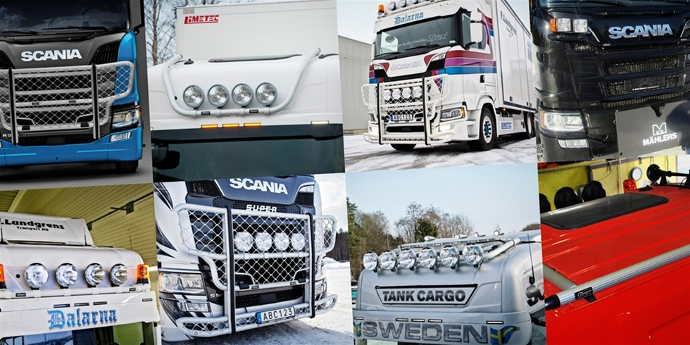 Trux tillbehörssortiment av frontskydd och ljusbågar i aluminium till Scania senaste lastbil är i det närmaste komplett och finns numera ute till försäljning.