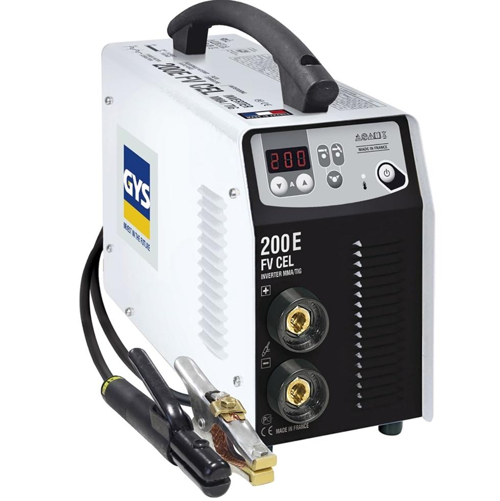 Extra boost i tändögonblicket, Anti-Sticking och automatisk reglering för jämn ljusbåge. Det är en del av den avancerade tekniken i den senaste generationen av 1-fas invertersvets från Spark Gys. Den smidiga invertern erbjuder 200 ampere och gör det möjligt att svetsa upp till 5 millimeter grova elektroder. Invertersvetsen presenteras av Blys VIP på årets MaskinExpo.