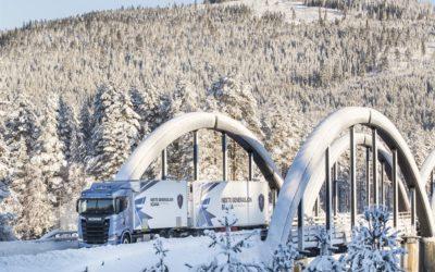 Nya generationen Scania visade färg i vintervita Trysil